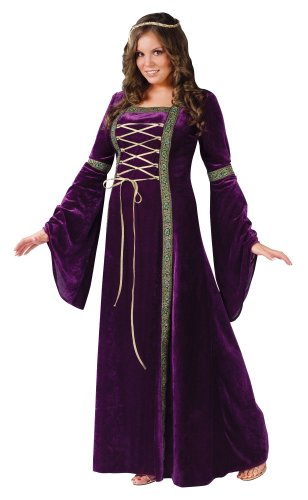 Renaissance Lady AD Costume-Plus Size Womens Juliet Maiden Medieval