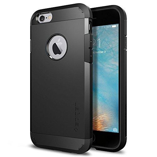 Spigen iPhone6S / iPhone6 ケース タフ・アーマー 米軍MIL規格取得 耐衝撃カバー (ブラック SGP11614)