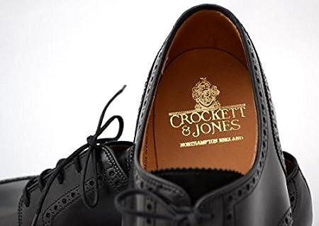 CROCKETT&JONES(クロケット&ジョーンズ) PEMBROKE BLK CAVALRY CALF フルブローグ ダイナイトソール ブラック キャバリーカーフ 7E