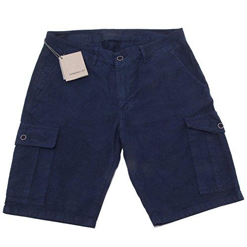 0059Q bermuda uomo HAMAKI-HO blu pantalone corto short men [32]