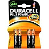 Duracell PLUS 4x AAA Batteries (MN2400 / R03)