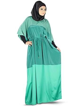 Amazon.com: MyBatua Women's Raha Islamic Kaftan One Size