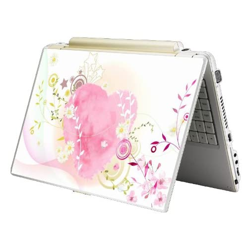 Bundle Monster Laptop Notebook Skin Sticker Cover Art Decal   12 14 15   Fit HP Dell Asus Compaq   Heart Flame