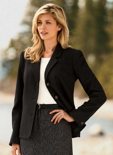 Seamed Wool-blend Jacket