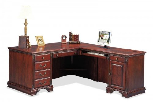 Buy Low Price Comfortable Nottingham Desk and Right Computer Return (Cherry) (68″W X 30″H X 32″D) (B003K3WWYQ)