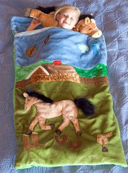 More image Plush Horse Sleeping Bag