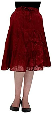 cotton s a line skirt maroon in