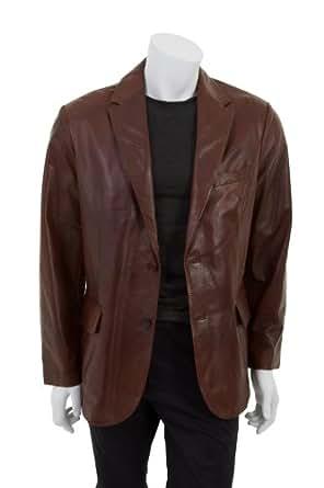 Manchini - Hommes cuir de luxe de veste / bois
