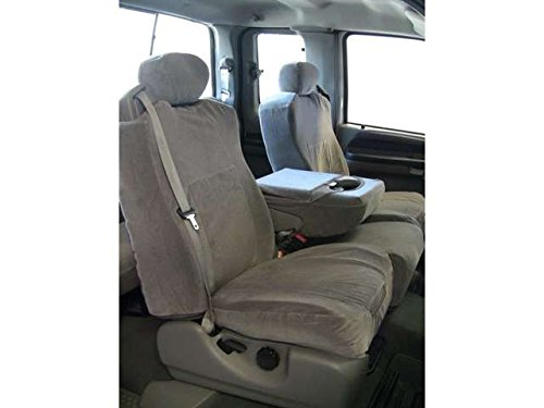 F83-V7..Durafit Seat Covers 2001-2007- Ford F250-F350-F450-F550 Front 40/20/40 Split Seat Custom Seat Covers, Opening Console Gray Automotive Velour (Middle Seat Truck compare prices)