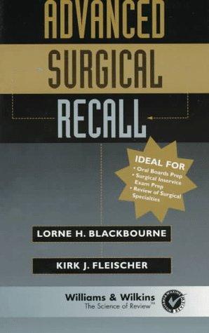 Advanced Surgical Recall (Books)