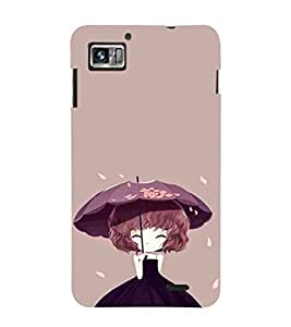 EPICCASE Little Girl with Umbrella Mobile Back Case Cover For Lenovo K860 (Designer Case)
