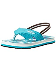 Beanz Girl's Splash Cat Teel Flip-Flops And House Slippers - 14C UK