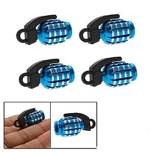 Grenade Shaped Blue Mini Car Tire Tyre Valve Cap Cover
