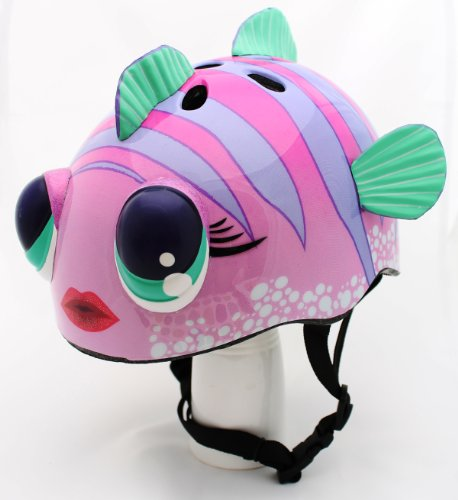 Pink Fish Childrens Helmet Cycling Skating Scooter Bike