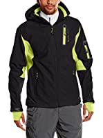 Peak Mountain Chaqueta Soft Shell Cavybi (Negro / Lima)