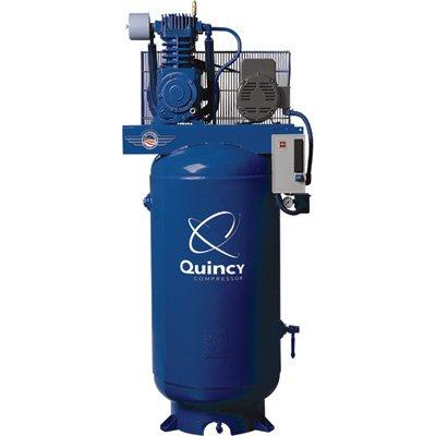 - Quincy Qt-7.5 Splash Lubricated Reciprocating Air Compressor - 7.5 Hp, 230 Volt, 1 Phase, 80-Gallon Vertical, Model# 271Cs80vcb