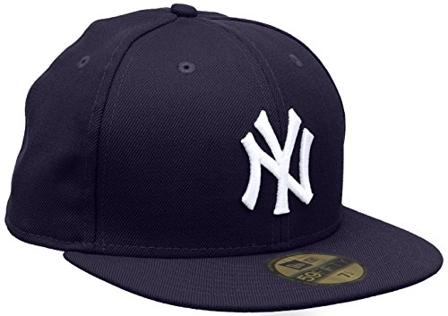 New Era 59 Fifty NY Yankees - Cappello con visiera, colore viola (purple/white), taglia 7.5