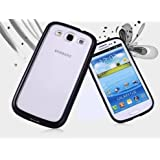 Galaxy S3 Case, Dynamic ® [Cushioned Thin Gel Bumper] Premium Frosted Clear TPU Case ** New ** [Black] Scratch Resistant Hard Cover Bumper Case for Samsung Galaxy S3 - Black