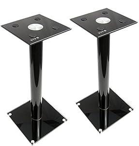 VIVO Premium Universal Floor Speaker Stands for Surround Sound & Book Shelf Speakers (STAND-SP02B)