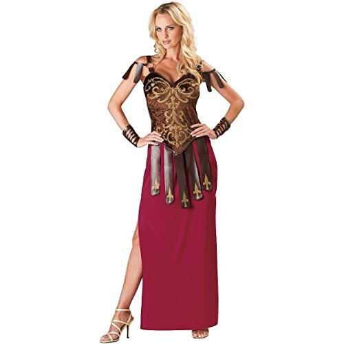 [GSG Gorgeous Gladiator Costume Adult Roman Greek Amazon Warrior Goddess Dress] (Womens Elf Warrior Costume)