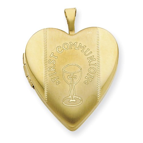 1/20 Gold Filled 20mm First Communion Heart Locket