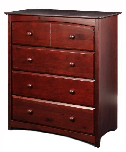Read About Stork Craft Beatrice 4 Drawer Chest, Cherry