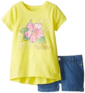 Nautica Girls 2-6X Flower Print Toddler Short Set from Nautica