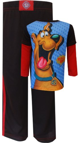 Scooby-Doo - Ruh Roh Thermal Sleeve Pajamas For Boys (6) back-512083
