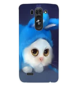 ColourCraft Cute Cat Design Back Case Cover for LG D722 K