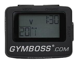 Gymboss minuteur d'intervalle & Chronomètre NOIR SOFTCOAT