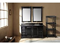 "Hot Sale 59.25"" Providence Double Bathroom Vanity w/ Cream Marble Top"