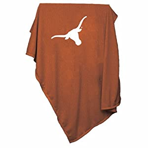 Texas Longhorns NCAA Sweatshirt Blanket Throw by Texas Longhorns NCAA Sweatshirt Blanket Throw