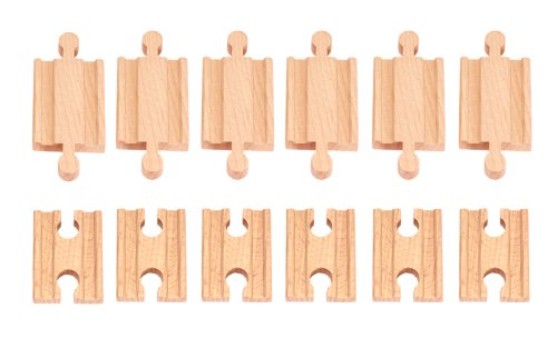 12 Pcs Wooden Train Track Male-male Female-female Adapter Pack Fits Thomas Brio Chuggington - 1