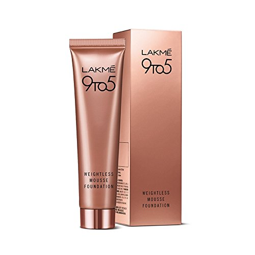 Well, by now a lot of you would know that I am quite a Lakme loyalist and don't shy away from trying any new product by this brand.  Foundation is something, I am sure, most girls would have- so  I suggest try this mousse foundation. It lives up to almost all claims it makes:  1.It is a daily wear foundation 2. It is weightless: it is so light that you don't realise you are wearing a foundation 3. It blends effortlessly into your skin, giving it a perfect coverage for that fresh and natural look 4. It gives a matte finish that lasts the entire day and suits all skin types 5. No side effects, no skin break-out issues, does not feel sticky or oily  Irrespective of the number of layers you put on your face, the foundation never looks cakey.  The only concern I had with this product is that it does not moisturize that well.   But it is definitely worth a buy !
