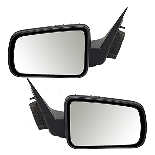 Driver and Passenger Power Side View Mirrors Heated Textured Replacement for Ford 8S4Z17683CA 8S4Z17682CA (09 Ford Focus Driver Side Mirror compare prices)