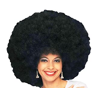 Amazon.com: Forum 70's Disco Deluxe Jumbo Afro Wig, Black, One Size