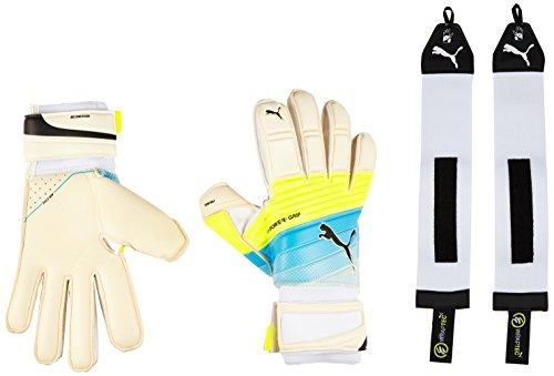 Puma-Guanti da portiere evoPOWER Grip 1.3RC, Unisex, Torwarthandschuhe Evopower Grip 1.3 RC, White/Atomic Blue/Safety Yellow, 7.5