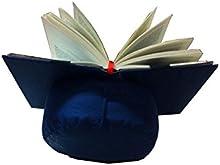 Almohadón de lectura azul / Atril para leer en la cama o sofa