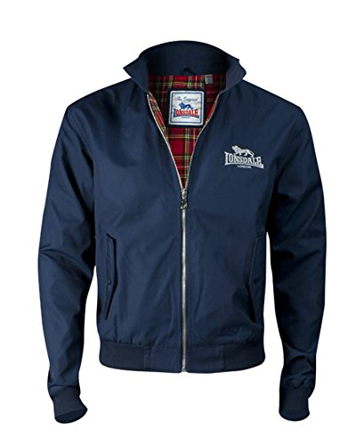 Lonsdale Men´s Slim-fit Embroided Logo Harrington Jacket Navy Blue рубашка lonsdale lonsdale lo789emjnp35