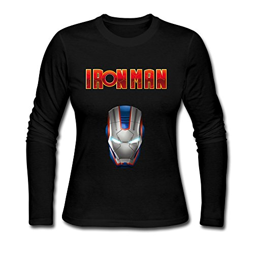GLYCWH Women's Iron Man T-Shirt 100% Cotton