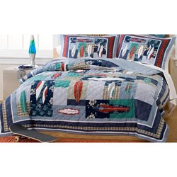 Surfing Usa Full Queen Quilt With 2 Shams front-944229