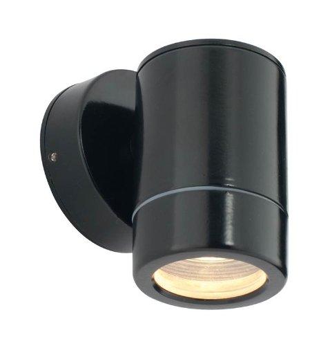 Odyssey One Light Outdoor Wall Bracket in Satin Black