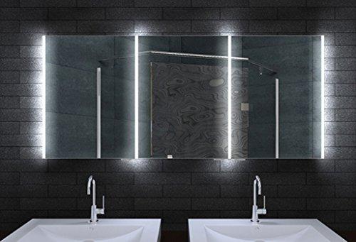 Spectacular Design Bathroom Mirror LED Lighting and lichtleitenden Acrylic Strips CM