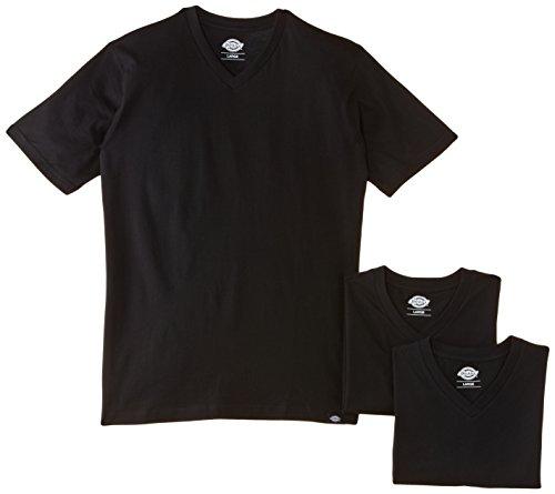 Dickies - V Neck T-Shirt Pk, Maglia a maniche lunghe Uomo, Nero (Black), XX-Large (Taglia Produttore: XX-Large)