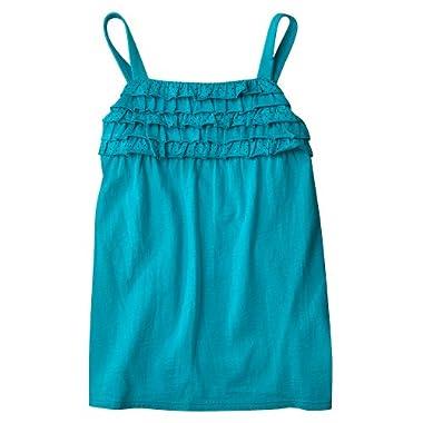 Product Image Cherokee® Girls' Polka Dot Ruffle Knit Tank - Turquoise