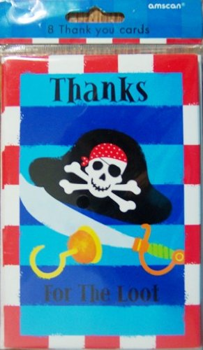 Pirates Treasure Thank You Cards - 1