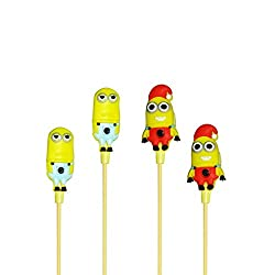 Techwich Despicable Me Minions in-ear earphone with mic for iphone Samsung xiaomi MP3 stereo earphone super bass