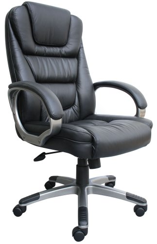 Boss Black LeatherPlus Executive Office Chair