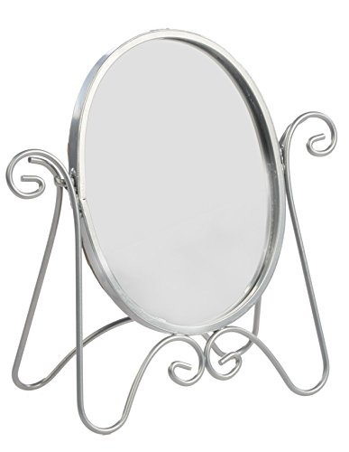 Displays2Go Tabletop Vanity Mirror, Silver Finish, Set Of 6 front-159275