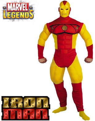 Adult Iron Man Muscle with Mask Costume